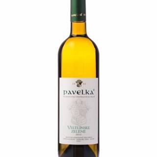 Pavelka Veltlínske zelené neskorý zber víno biele suché 0,75l
