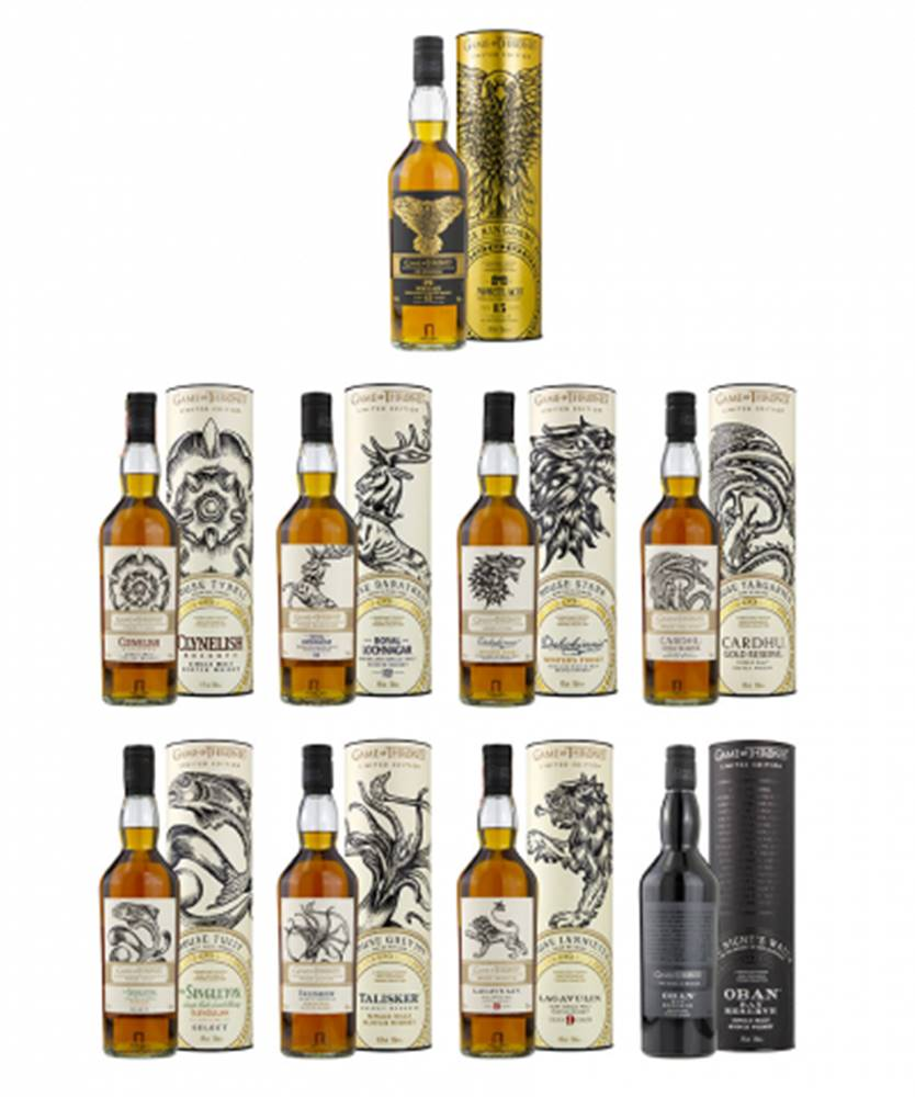Bailey's Game of Thrones Single Malt Collection 9x0,7L (40%-51,2%)
