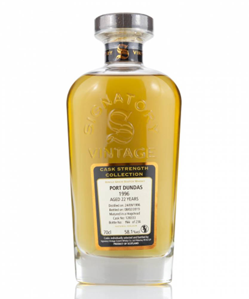 West Cork Distillers Signatory Vintage Port Dundas 22YO Collection 1996 0,7L (59%)