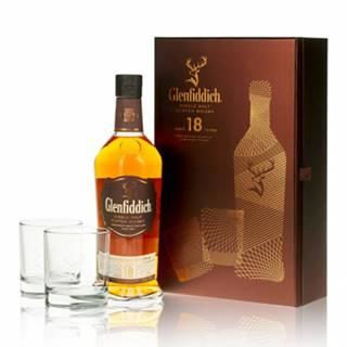 Glenfiddich Whisky 18YO 0,7l (40%) + 2 poháre