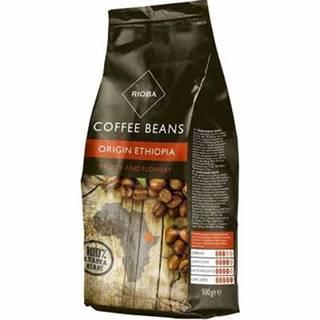 Rioba Ethiopia káva zrnková 500g