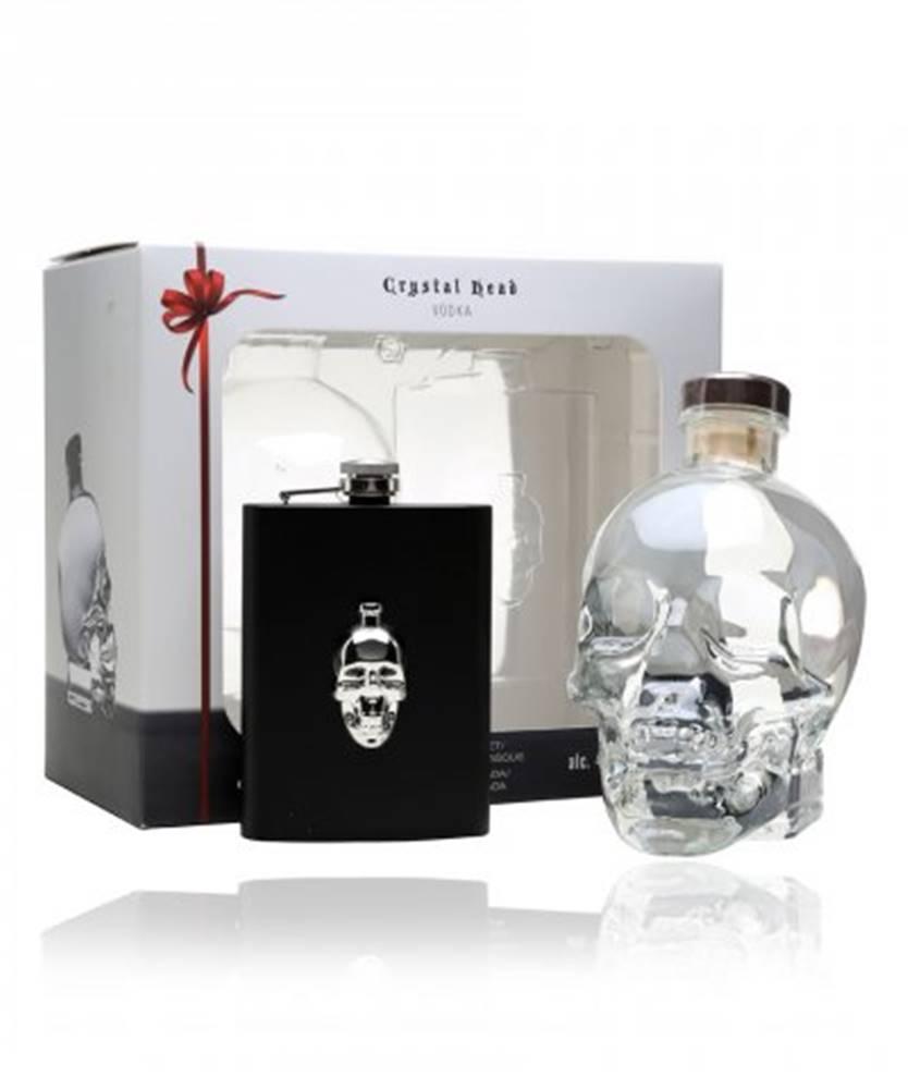 Newfoundland and Labrador Liquor Corporation Crystal Head Hipflask Vodka + ploskačka 0,7l (40%)