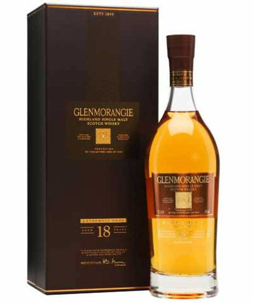 Glenmorangie Glenmorangie 18YO EXTREMELY RARE + GB 0,7l (43%)
