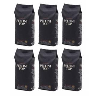 Pellini TOP 100% arabika zrnková káva 6 x 1 kg
