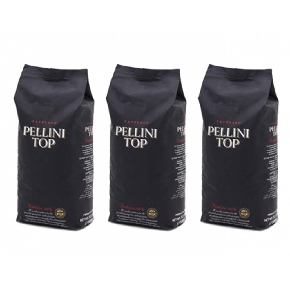 PELLINI Pellini TOP 100% arabika zrnková káva 3 x 1 kg