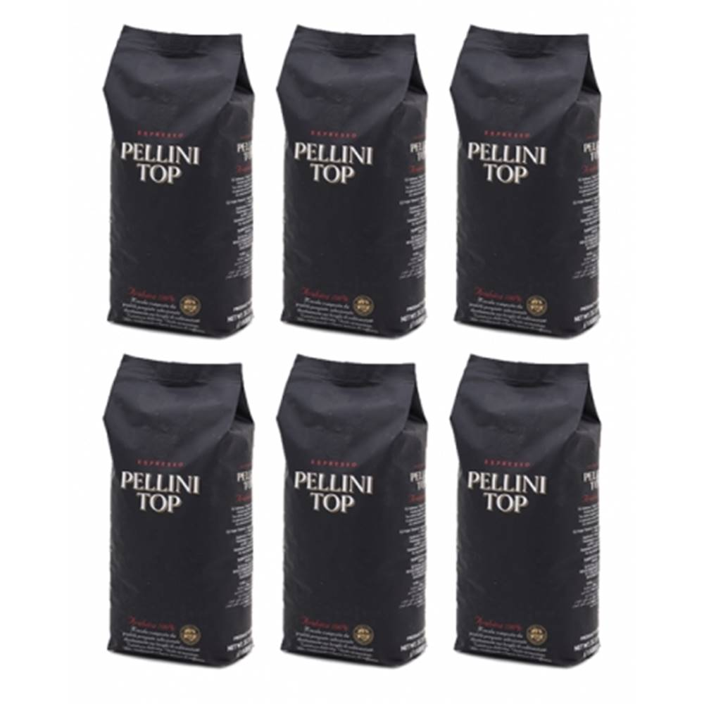PELLINI Pellini TOP 100% arabika zrnková káva 6 x 1 kg
