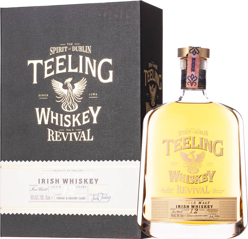 Teeling Teeling 12 ročná - The Revival V Cognac & Brandy Casks 46% 0,7l