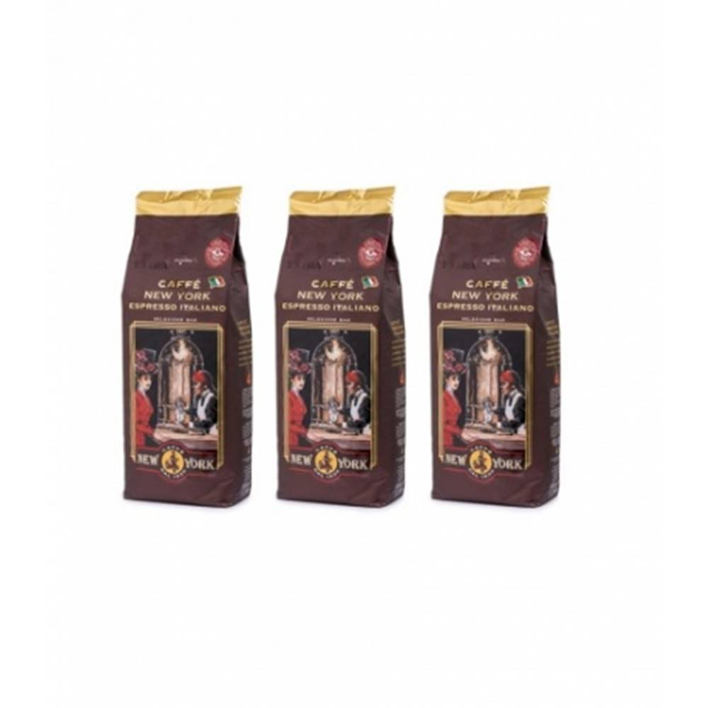 Lavazza New York Caffé Extra 100% Arabica zrnková káva 3 x 1 kg