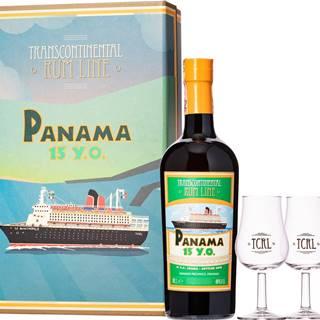Transcontinental Rum Line Panama 15 ročný + 2 poháre 40% 0,7l